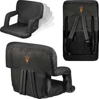 NCAA Arizona State Sun Devils Ventura Portable Reclining Seat, Black