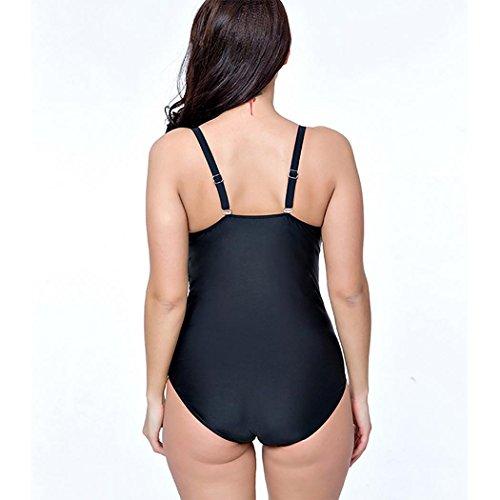 HXQ Mujeres Una pieza Trajes de baño escotado por detrás Bikini Talla extra Yellow