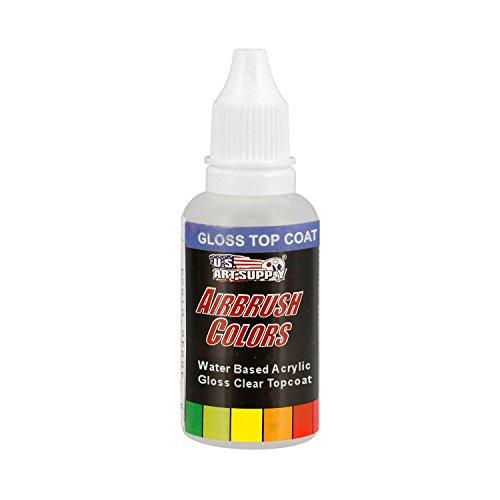 US Art Supply Clear Gloss Topcoat Acrylic Airbrush Paint, 1 oz.