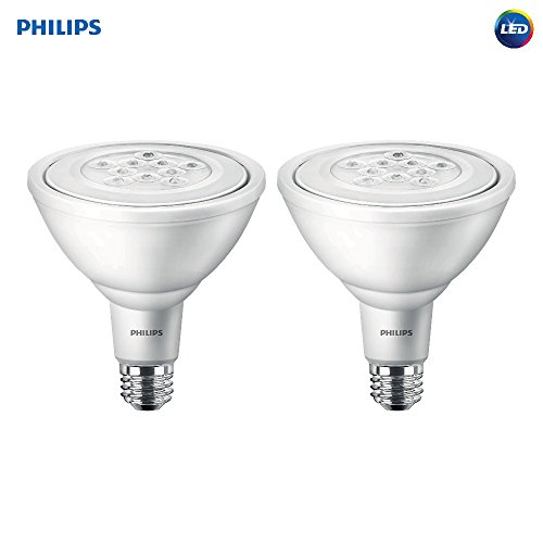 Philips LED Non-Dimmable PAR38 25-Degree Spot Light Bulb: 950-Lumen, 3000-Kelvin, 11-Watt (90-Watt Equivalent), E26 Base, Bright White, 2-Pack