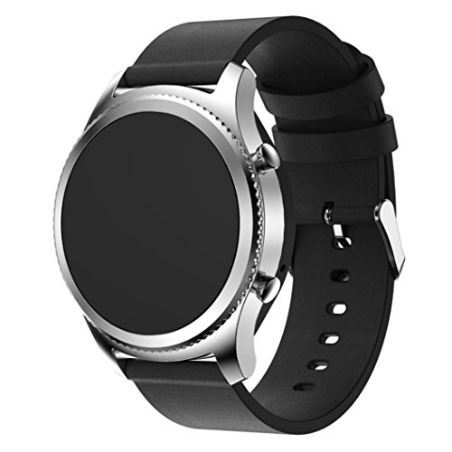 Dreaman Leather Watch Strap Band For Samsung Gear - Leather Velcro Watch Band