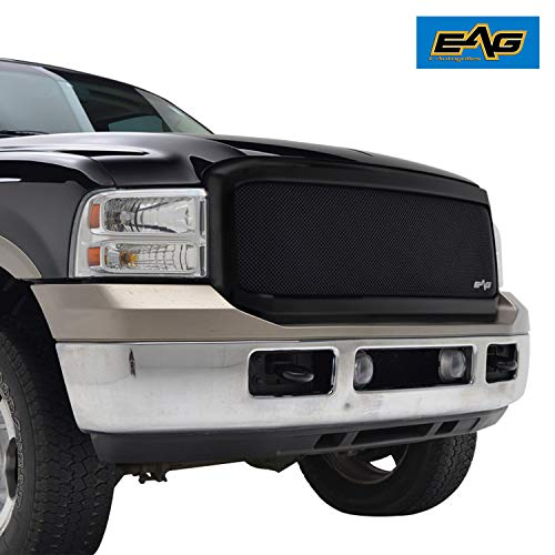 - EAG Replacement Grille Black Stainless Steel Wire Mesh with ABS Shell Fit for 05-07 Ford F250/F350