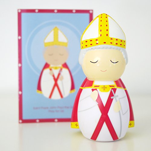 Shining Light Dolls St. Pope John Paul II (The Great) Collectible Vinyl Figure with Prayer and Story Card