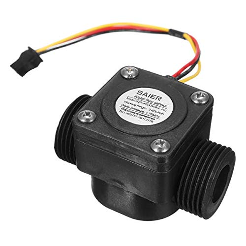 OKIl 60L/min Water Flow Meter Sensor DN20 G3/4 Inch DC 5V Fluid Flowmeter Counter Switch