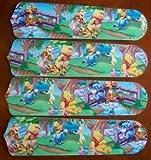 Ceiling Fan Designers 42SET-DIS-WPPET Winnie Pooh Piglet Eeyore Tigger 42 in. Ceiling Fan Blades Only