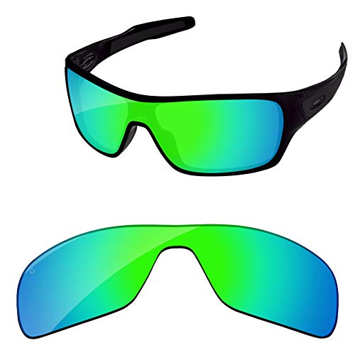 (PapaViva Lenses Replacement for Oakley Turbine Rotor Pro+ Bluish Green Polarized)