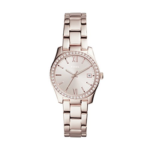 (Fossil Women's 'Scarlette' Quartz Stainless Steel Casual Watch, Color:Pink (Model: ES4363))