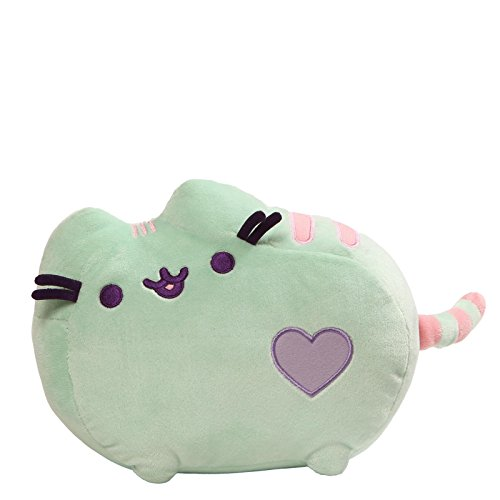 Gund Pusheen Pastel Heart Cat Plush, Mint Green, 12""