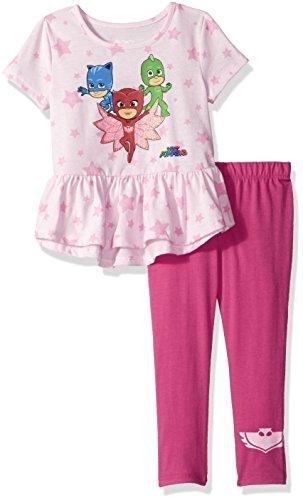 PJ Masks Girls Toddler 2 Piece Top and Legging Set