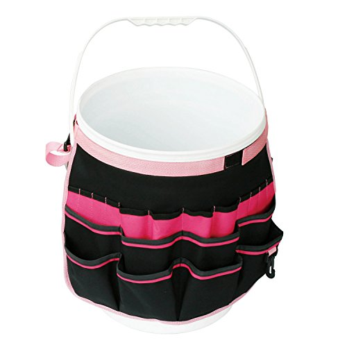 Apollo Tools DT0825P Garden Tool Organizer, Black/Pink, Donation Made to Breast Cancer Research (Tool Breast Set Cancer)