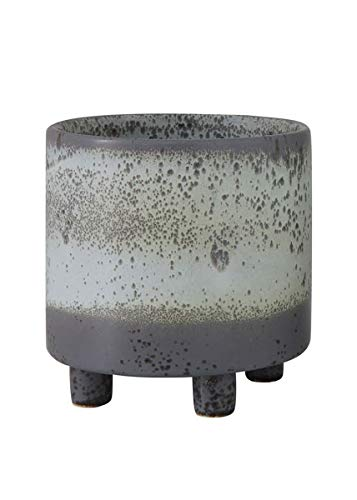 (Afloral Glazed Ceramic Planter Footed Pot in Ombre Grey - 6