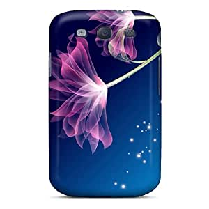 Tpu Annmali Shockproof Scratcheproof Two Pink Flowers Hard Case Cover For Galaxy S3