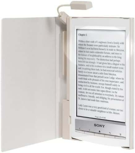 Sony PRSACL10W.WW2 - Funda con luz para ebook reader, color blanco ...