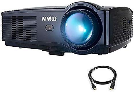 Proyector WiMiUS actualizado T4 3500 lúmenes Home Theater proyector Soporte Full 1080P 50,000 H LED Compatible con Amazon Fire TV Stick Laptop iPhone Android teléfono Xbox Via HDMI USB VGA AV: Amazon.es: