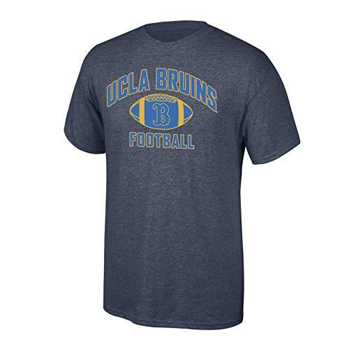 Elite Fan Shop NCAA Men's Ucla Bruins Football T-shirt Dark Heather Ucla Bruins Dark Heather -