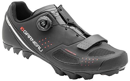 Louis Garneau Men's Granite 2 Mountain Bike MTB Shoes with BOA Adjustment System, Black, US (13), EU (49)