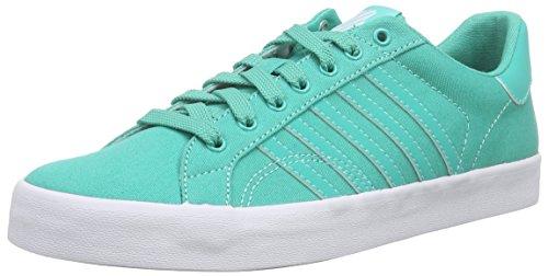 K-swiss Womens Belmont Så Mode Sneaker Pool Grön / Vit Duk