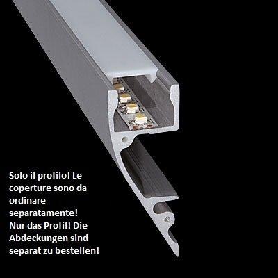 Profilo Stretto In Alluminio Anodizzato Per Montaggio A Parete Per