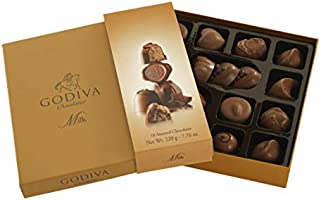 Godiva, Connoisseur bombones surtidos chocolate con leche 18 ...