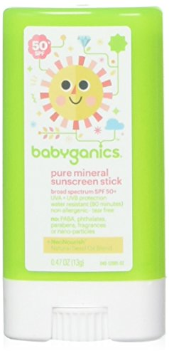 Babyganics Pure Mineral Sunscreen Stick - SPF 50+ - 0.47 oz