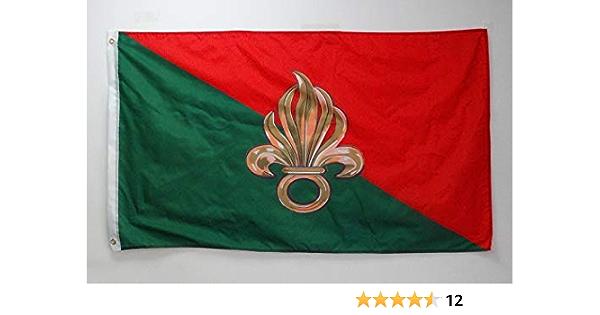 AZ FLAG Bandera de la LEGIÓN EXTRANJERA Francesa 150x90cm - Bandera EJÉRCITO FRANCÉS 90 x 150 cm: Amazon.es: Jardín