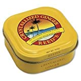 Reeds Ginger Brew Crystallized Ginger Candy, 10 Ounce Tin -- 8 per case.
