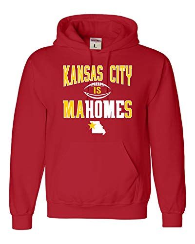 (Medium Red Adult Kansas City is Mahomes Sweatshirt)