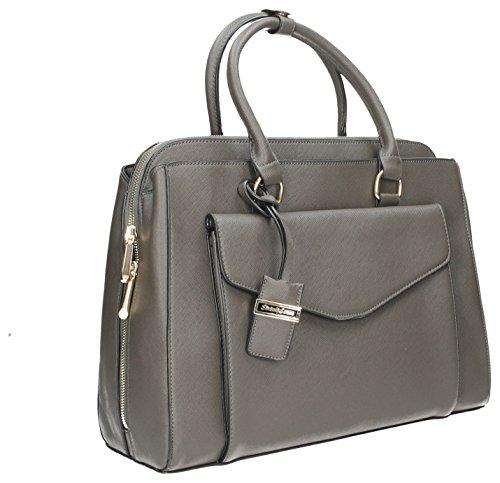 Amy tascabile, da borsetta da spalla da donna, da donna, misura grande, motivo: Fashion, SWANKYSWANS Tote Handbags Grey
