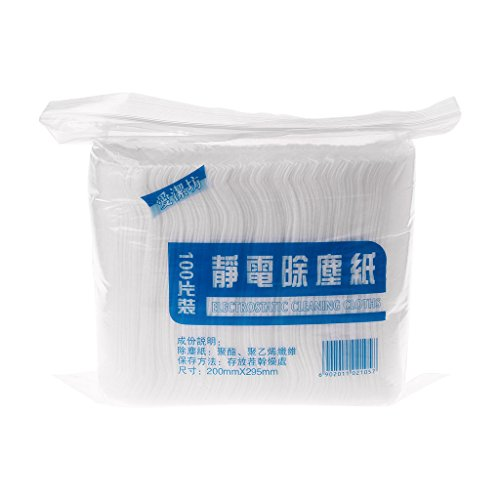 Mop Paper (Poity 100 Pieces/Bag Disposable Electrostatic Dust Removal Mop Paper Home Kitchen Bathroom)