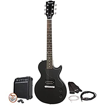 Gibson Maestro Single Cutaway Electric Guitar, Ebony, with Amp and Accessories