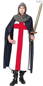 Disfraz Traje Vestimenta de Caballero con la Cruz de San Jorge 111cm Pecho