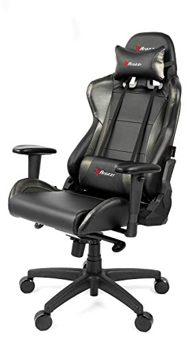 Density Carbon Composite - Arozzi Verona Pro V2 Premium Racing Style Gaming Chair with High Backrest, Recliner, Swivel, Tilt, Rocker and Seat Height Adjustment, Lumbar and Headrest Pillows Included, Carbon Black