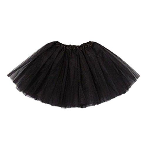 Doinshop 2015 Girl Princess Mini Dress Pettiskirt Party Ballet Tutu Skirt (black)