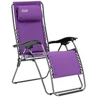 Coleman Chair Flat Fold Layback Lounger, Purple