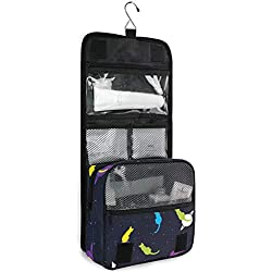 Hanging Travel Toiletry Bag Star Background With Cats Kit Makeup Case Cosmetics Organizer for Men Women by domook