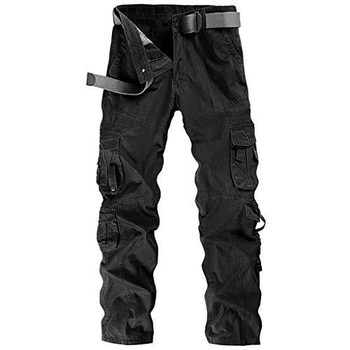 Men Cargo Pants Long Multi-Pocket Mid Waist Casual Pocket Beach Work Overalls Slacks Trousers Fashion Sport Loose Active
