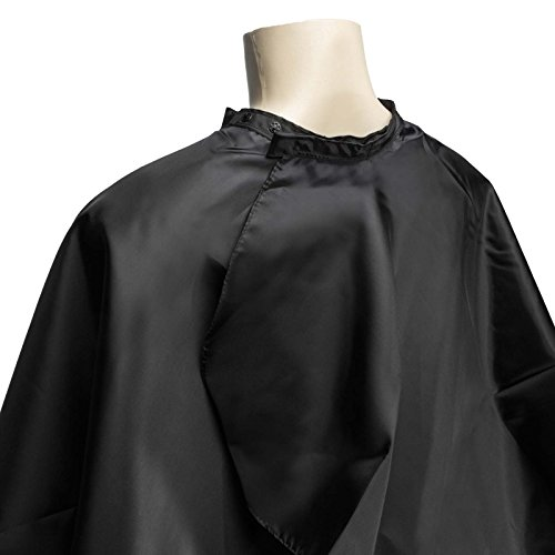 Salon Sundry Professional Hair Salon Nylon Cape With Snap Closure 50 X 60 Black
