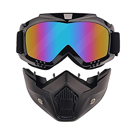 Amazon.com: Máscara de motocicleta desmontable, protección ...