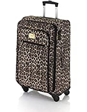Marikai Leopard 67cm Soft Suitcase Luggage Trolley Brown Multi Medium