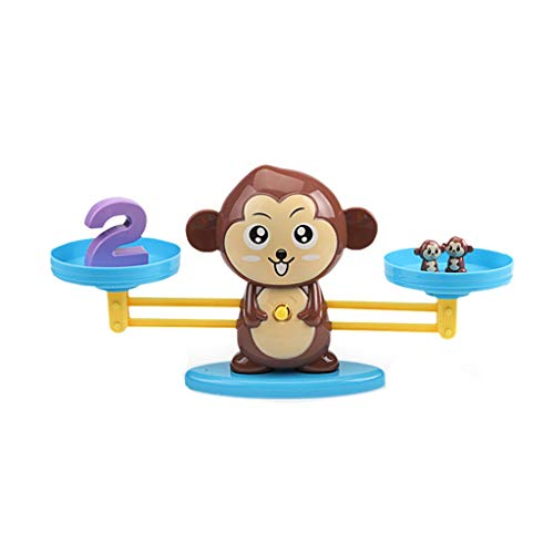 Binory Balance Cool Math Game for Girls & Boys,Fun Learn Balance Math Game Toys,Fun Math Early Counting Toy,Educational Children's Gift & Kids Toy,Puzzle Early Development Toys(Monkey) 2 Level 1 Fast Track