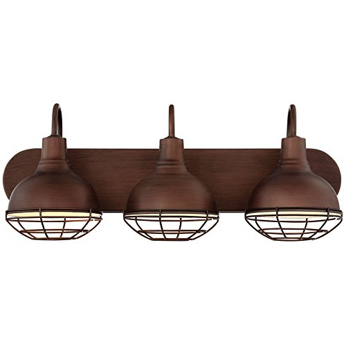 Revel/Kira Home Liberty 24'' 3-Light Industrial Vanity/Bathroom Light, Brushed Bronze Finish by Kira Home
