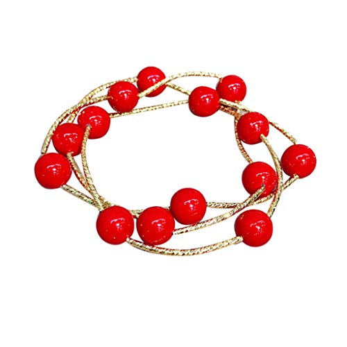 Toponly Female Lucky Temperament Minimalist Trend Personality Bracelet Three-Layer Beaded Necklace Dual-Use Elastic