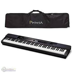 casio px350 privia 88 key touch sensitive digital piano in black with casio privcase. Black Bedroom Furniture Sets. Home Design Ideas