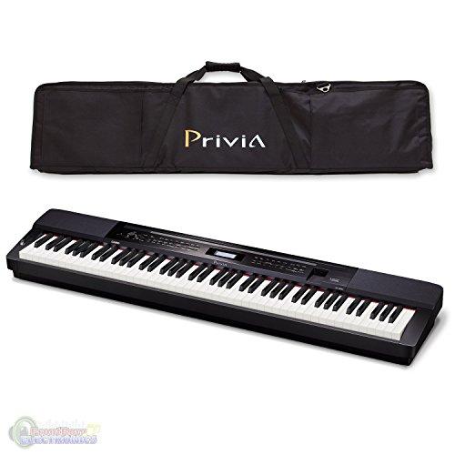 Casio PX350 Privia 88-Key Touch Sensitive Digital Piano in Black with Casio PRIVCASE Privia Case