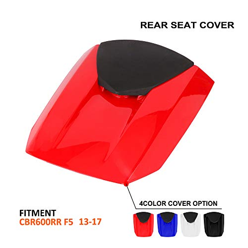 Motorcycle Red Rear Seat Cowl Passenger Pillion Fairing Tail Cover For Honda CBR600RR F5 2013-2017
