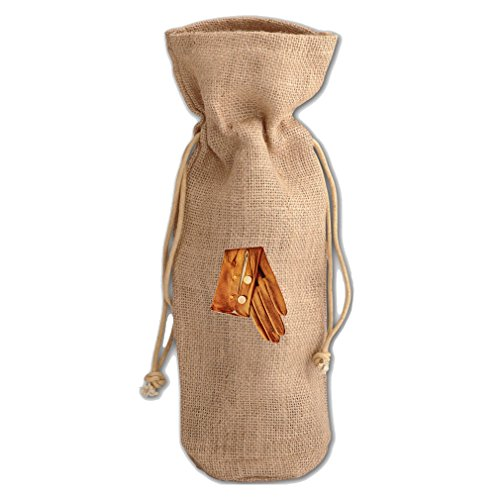 Tf Women Gloves - Woman Glove 4 Vintage Look Burlap Wine Drawstring Bag