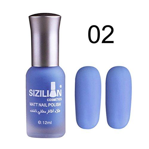12ml Matte Dull Nail Polish Fast Dry Long Lasting Nail Art Matte Nail Polish -