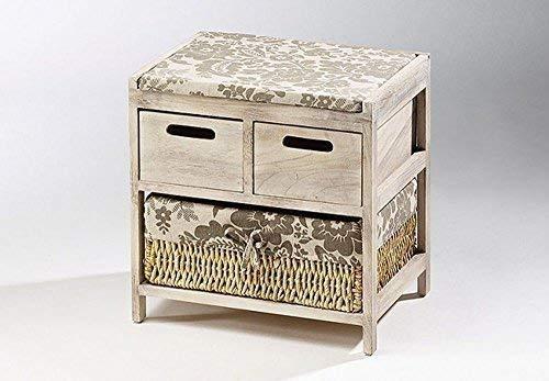 PICCOLO CASA DI CAMPAGNA Panca con 3 cassetti legno foglia di mais im Vintage aspetto linoows