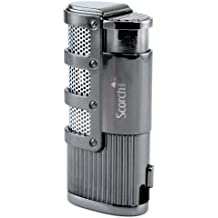 Scorch Torch Olympus Triple Jet Flame Butane Torch Cigarette Cigar Lighter w/ Punch Cutter Tool