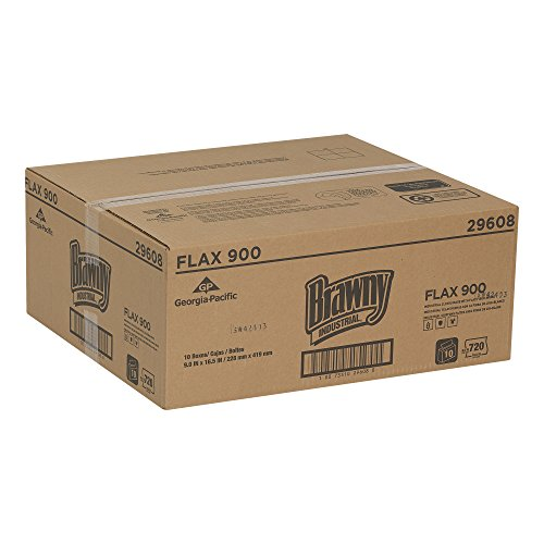 Brawny Industrial 29608 FLAX 900 Heavy Duty Cloths (10 Packs of 72) by Georgia-Pacific